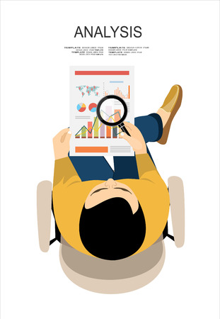 Flat design illustration concepts for business analysis and planning, financial strategy, consulting, project management and development. Concept to building successful business Vettoriali