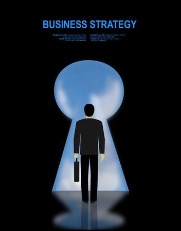 Conceptos para la planificación de negocios y contabilidad, análisis, auditoría, gestión de proyectos, marketing, investigación en el estilo de diseño plano. Volver vista de la imagen del joven empresario encontró manera de salir de laberinto Ilustración de vector