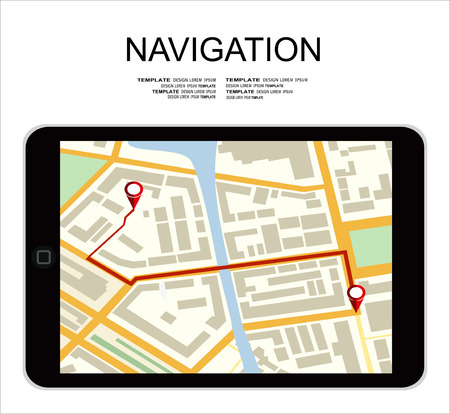 global positioning system: Global Positioning System, navigation. Vector illustration Illustration