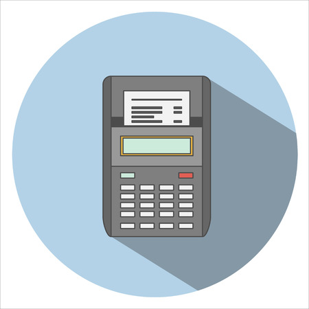 pos: Pos terminal Icon Flat Illustration