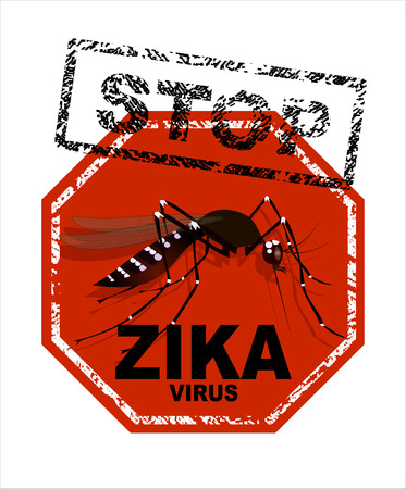 stop mosquito: Caution of mosquito icon, spread of zika and dengue virus. Stop mosquito