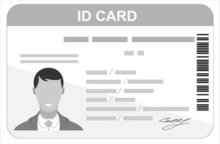 ide: ID Card. Flat design style.