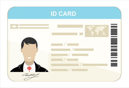 ide: ID Card. Flat design style.