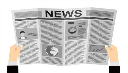 Business man reader Kranten