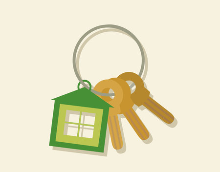house key: House key concept in flat style.