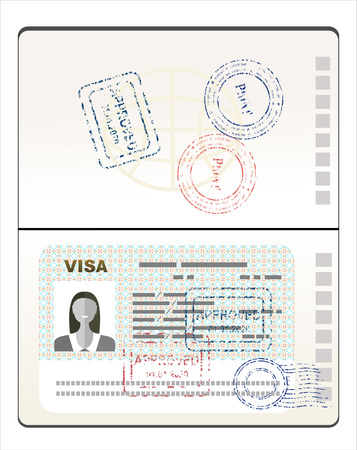 Visa sello en el pasaporte