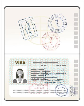 stamp passport: Visa Stamp Passport