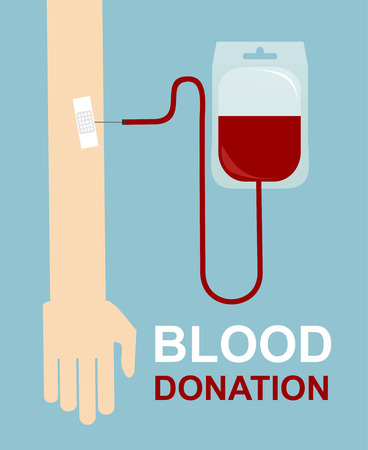 Blood donation design, medical and healthcare concept