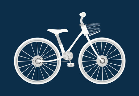 bycicle: Bicycle icon design flat isolated. Bike and white bycicle Illustration