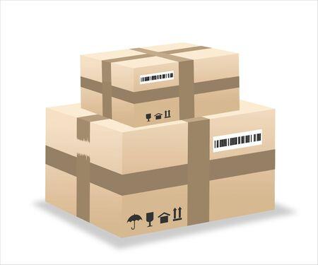 Ilustración de caja de entrega