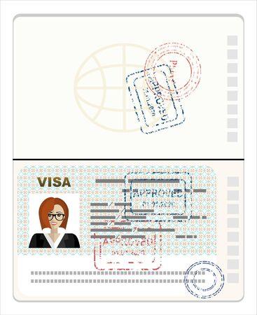 Pasaporte con sello de visa