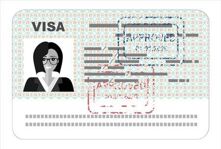 Visa flat illustration concept.