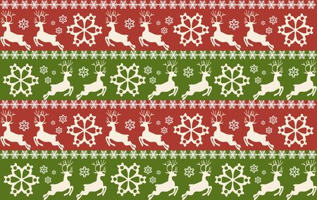 Christmas and New year seamless patterns. Vector illustration.