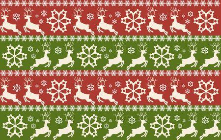 Modelli senza cuciture di Natale e Capodanno. Illustrazione vettoriale.