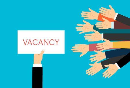 Postuler à un emploi, donner un CV, concours d'emploi, concept vectoriel Vecteurs