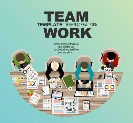 Flat design illustration concepts for business, finance, team work, consulting, management, anaysis, career.