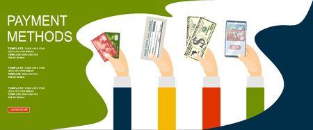 Payment Methods. Flat Vector Illustration Ilustrace