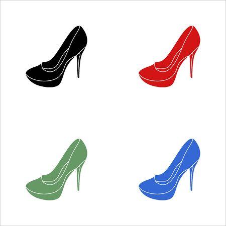 Women's shoe icon Illustration