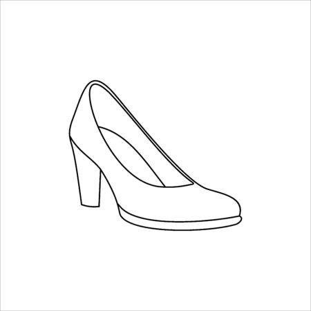 Womens shoe icon Illustration