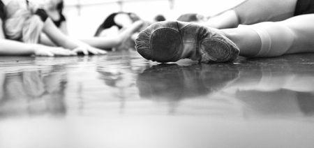 bailarina de ballet: Ballet Dancer Pies - suave y elegante  Foto de archivo