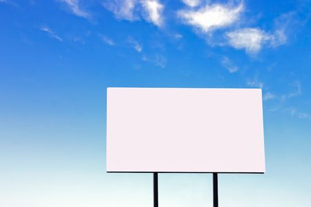 Brand new billboard and a wispy blue sky - larger sign than a similar image in my portfolio photo