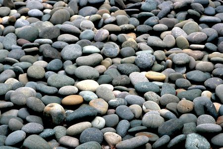 jumble: At the local botanical garden, we have a japanese garden area with a rock beach leading up to the lake. This is a small section
