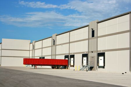 The loading dock at a large warehouse facility Stock Photo - 1941893