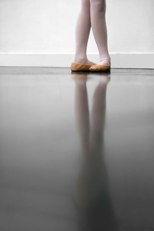 ballet shoes: Young dancer in 5th position