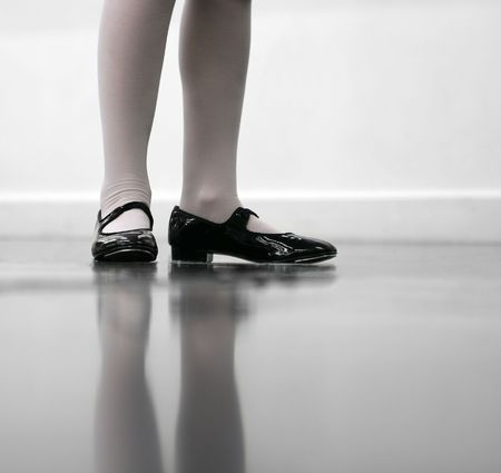 tap dance: Young dancer