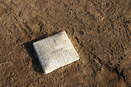 Baseball base - the objective is to get there safely Zdjęcie Seryjne