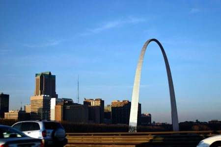 st  louis arch: An interesting view of the Arch - Gateway to the West Editorial