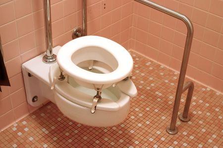 장애인 화장실 난간 - 아주 약간의 재고 사진이 주제에 사용할 수