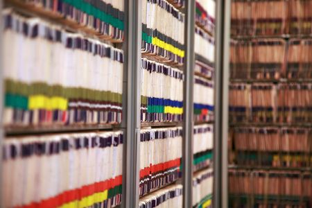 The medical records at a doctor's office - very narrow DOF Stock Photo - 3212091