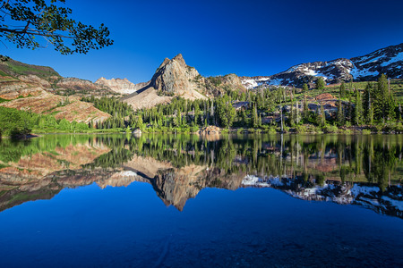 blanche: This photo was taken at Lake Blanche in Utah at sunset. Stock Photo