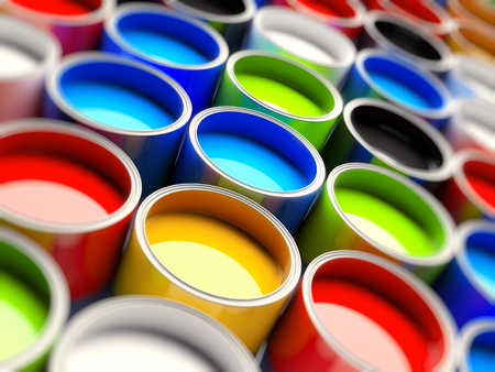 digital printing: 3d color buckets for offset printing