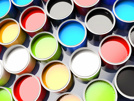 art processing: 3d color buckets for offset printing
