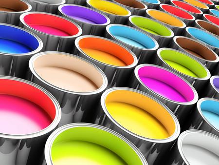 3d wiadra kolorów do druku offsetowego