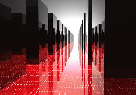data center with server cabinets Standard-Bild