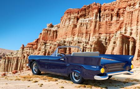 미국의 고전적인 자동차의 일러스트 레이션
