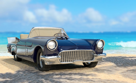 An illustration of an american classic car