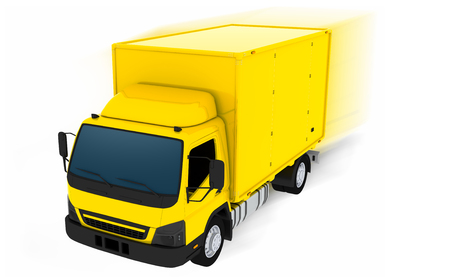 Delivery van of a forwarding agency
