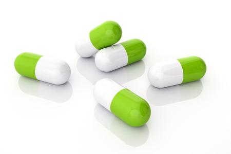 Rendered 3d pills