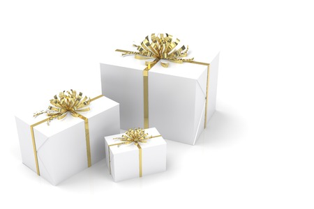 beautiful rendered gifts, gift boxes for festive occasions 写真素材