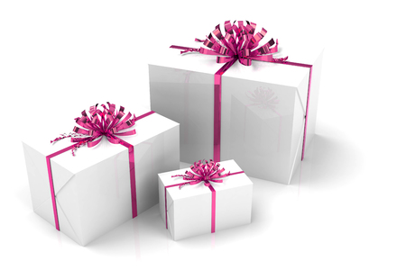beautiful rendered gifts, gift boxes for festive occasions Stock Photo