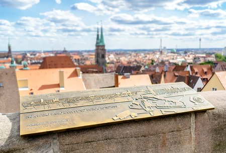 The historic old town of Nuremberg in Franconia Banque d'images