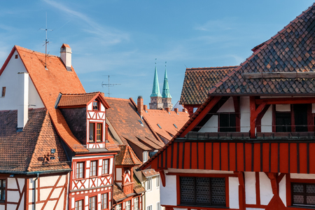 The historic old town of Nuremberg in Franconia Editorial