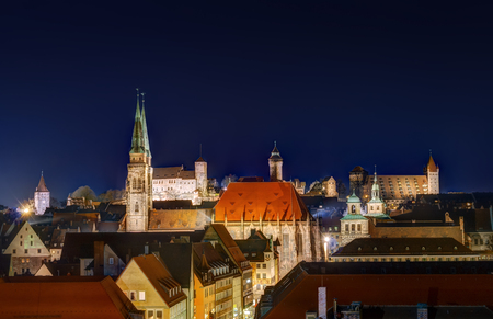 The historic old town of Nuremberg in Franconia Stock Photo