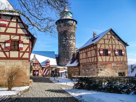 De historische oude stad van Neurenberg in Franken Redactioneel