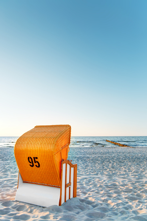 groynes: the baltic coast of germany in the summer Stock Photo