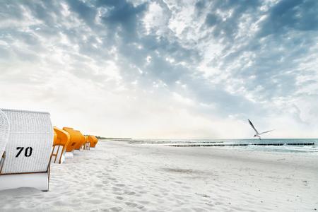 De Baltische kust van Duitsland in de zomer